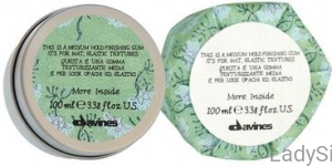 DAVINES MORE INSIDE Medium Hold Finishing Gum- Elastyczna guma 75ml