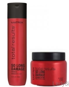 MATRIX TOTAL RESULTS SO LONG DAMAGE - Szampon + maska odbudowa 300ml + 150ml